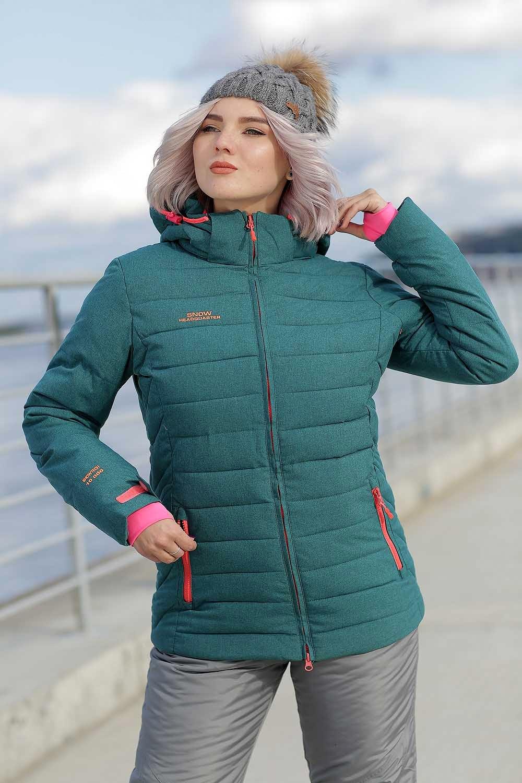 ec1b0b3706a Зимний женский костюм Snow Headquarter изумрудный   Купить